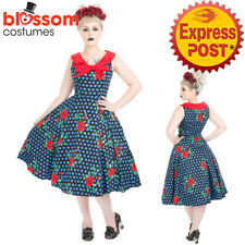 RKH104 Hearts and Roses H&R Rose Marie Day Retro 50s Rockabilly Dress Vintage