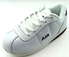New Youth Kids Boy's White Leather LaceUp Athletic Casual Sneakers Tennis Shoes