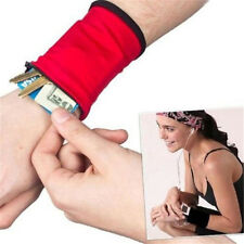 New Outdoor Wrist Band Safe Wallet Storage Zipper Ankle Wrap Sport Strap