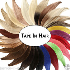 2017 Tape In Human Hair Extensions Long Straight hair Weave Grade 8A Seamless