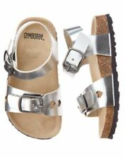 NWT Gymboree Tropical Breeze Silver Sandals Shoes 8,9,13 Toddler or Kids Girls
