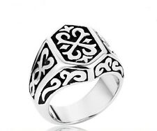 Mens Celtic Crest Biker Ring Gothic Silver Stainless Steel Mens Jewelry Ring