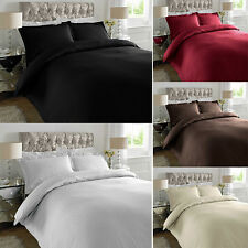 Hotel Quality 100% Cotton Satin Stripe Duvet Cover Set With Pillowcase 300TC