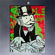 Alec Monopoly DJ HUGE OIL PAINTING MODERN ABSTRACT WALL DECOR ART CANVAS 24x32in