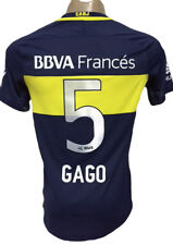 NEW!!! 2016-17  BOCA JUNIORS HOME SOCCER JERSEY GAGO # 5 PLAYERS VERSION