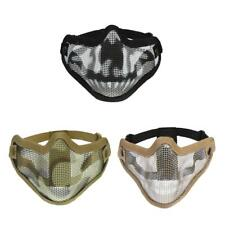 Tactical Mesh Half Face Mask Hunting Protective Gear Cosplay Game Skull Mask