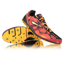 New Brooks Mach 13 Track Spikes Distance Shoes Red/Orange/Black/Gold