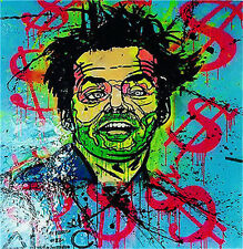 Alec Monopoly Handcraft HUGE Oil Painting Wall Decor Art Canvas Crazy Jack