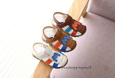 New Infant Baby Boys Leather Shoes Kids Summer Soft Sandals Size 5.5-11.5