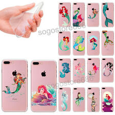 New Mermaid Funny Protective TPU Soft Phone Case For iPhone 5 5s 6 6S 7 Plus
