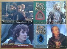 Lord of the Rings Fellowship of the Ring & The Two Towers trading card cards