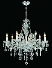 "8-light Clear Crystal chandelier silver /gold pendant lamp D:28""xH:28"""
