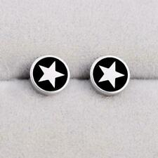 Round Barbell 361L Stainless Steel Men's Earring Punk Gothic Ear Studs Decor