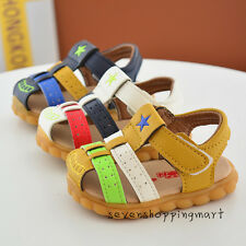 New Summer Shoes For Baby Infant Boys Leather Casual Sandals Beach Size 3.5-5.5