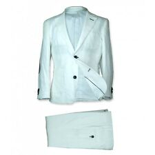 Boys Italian 2 PC White Linen Communion Suit Pageboy Wedding Prom Suit