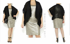 New LIVE UNLIMITED Evans 2 in 1 SEQUIN Party Dress PLUS Size 22 24 yours be 20