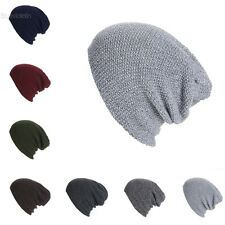 New Unisex Beanie Hat Long Casual Winter Warm Knit Hat Cap Fashion BLLT