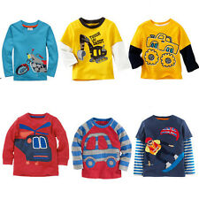 Kids Baby Boy Children's long sleeved  T-shirt  Tops Size 2 3 4 5 6T