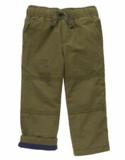 NWT Gymboree Boys Pull on Pants Gymster Fleece Lined green 2T 4 5 6 7 8 10