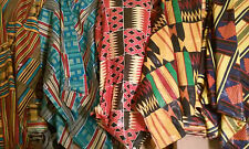 "1 YARDS OF AFRICAN PRINT FABRIC 100% COTTON 44"" WIDE"
