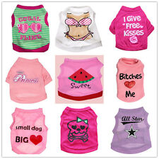Pet Gir Dog Clothes Shirt Female Puppy Soft Vest Apparel Spring Summer Clothing