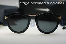 Retro Vintage brand new sunglasses mens women black frame smoke polarized lenses
