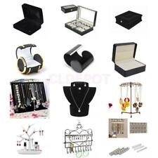 Jewellery Necklace Earrings Watch DIsplay Case Box Storage Bust Stand Organizer