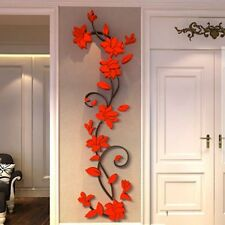 Removable 3D Flower Home&Room Decor DIY Wall Sticker Roon Acrylic Decal Mural