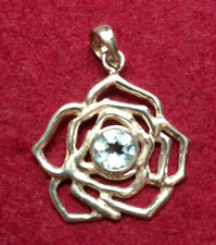 Silver Faceted Stone Pendant