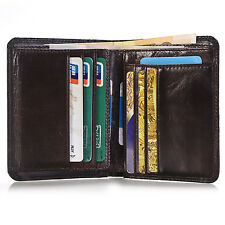 Men's Genuine Leather Money Clip Wallet ID Card holder Bifold Coin Purse Pocket