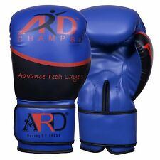 ARD® Art Leather Boxing Gloves Fight Punching Bag MMA Muay Thai Kickboxing- Blue