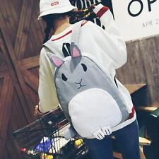 New Cute Rabbit Backpack Student Girls Canvas Bag Fashion Leisure Backpacks