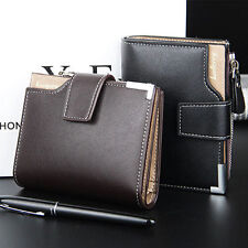 Men's Leather Clutch Pockets Wallets ID Bifold Business Credit Card Holder Purse