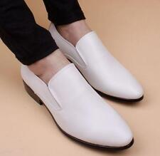 Mens wedding casual leather pointy toe dress formal pull on shoes loafer nEW @#@