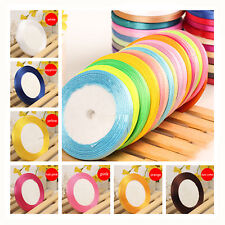 25 yards Width 6mm Craft Home Wedding Party Gift Decoration Satin Sewing Ribbon