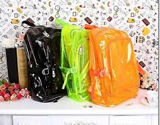 Travel Bag Clear Unisex Transparent School Security Backpack Book Bag Plastic