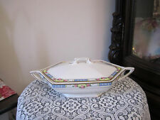 ANTIQUE COVERED SERVING BOWL  W.H. GRINDLEY & CO., ENGLAND