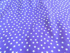PURPLE STARS POLYCOTTON POPLIN FABRIC