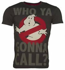 Official Men's Charcoal Who Ya Gonna Call Ghostbusters T-Shirt from For Love & M