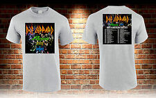 DEF LEPPARD with POISON and TESLA American Tour 2017 Grey T-shirt S to 3XL