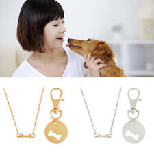 Best Friend  Necklace Bone Dog Tag Set Matching Dog Owner Animal Lover Jewelry