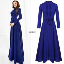 Women Ladies Long Sleeve Chiffon Maxi Long Evening Party Elegant Cocktil Dress