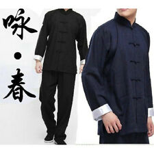 Chinese Kung Fu Wing Chun Martial Arts Tai Chi Uniform Bruce Lee Costume N