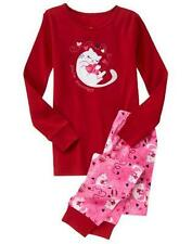 NWT Gymboree Gymmies Girls Purr-fect Heart Valentine's Day Pajamas PJs 4.6.8