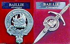 Baillie Scottish Clan Crest Badge or Kilt Pin Ships free in US