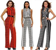 S-3XL sexy Long Wide Leg Jumpsuits Women New Casual Belted Jumpsuit Rompers