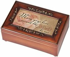 Music Jewelry Box, Mom Your Love Woodgrain Rose Mother Gift