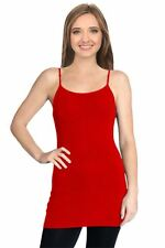 Tank Tops for Women Adjustable Spaghetti Strap Tunic Long Tank Tops