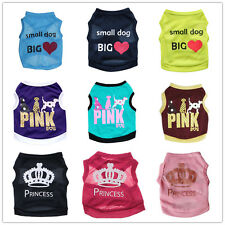 Small Dog Clothes Pet Puppy Vest Cat Cotton Shirt chihuahua yorkie maltese S M L