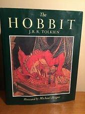 J.R.R. Tolkien - The Hobbit - 1984 US Illustrated Hardcover Edition DJ 2nd prtg.